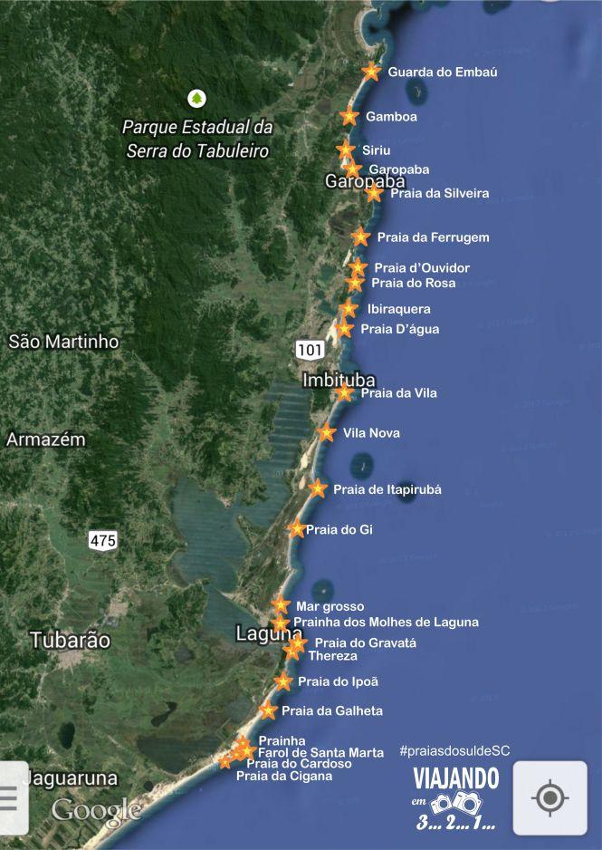 praias do sul de Santa Catarina - viajando em 3... 2... 1...